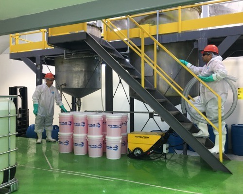 Austral inaugurated its new disinfectants plant